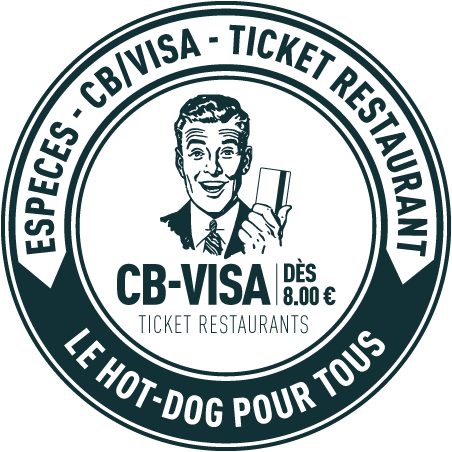 Monsieur Albert - Comptoir du Hot-Dog - CB - VISA - TICKET RESTAURANT