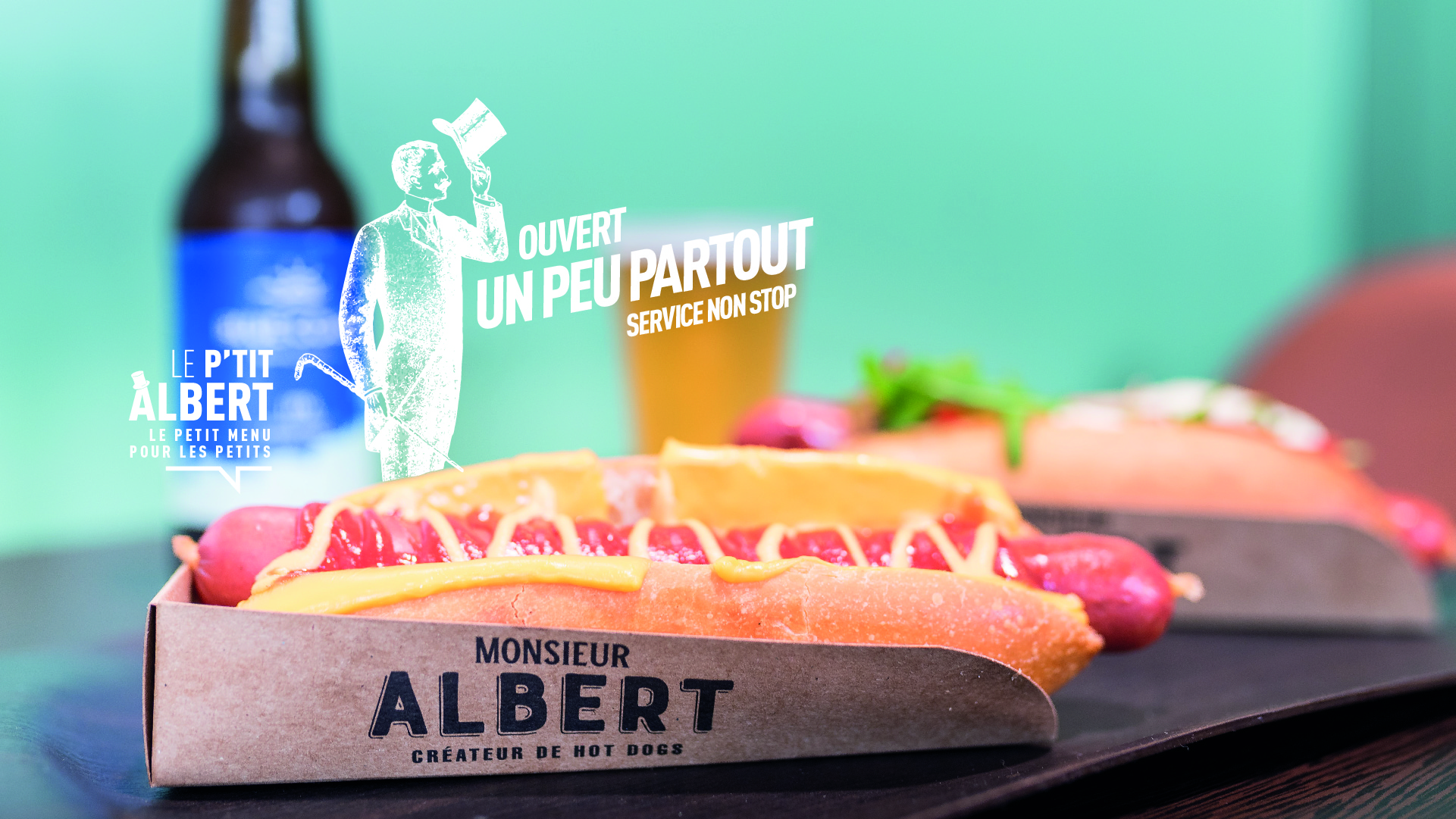 Monsieur Albert - Créateur de Hot-dogs à la Française - Hot-dog du moment - Etablissements en France